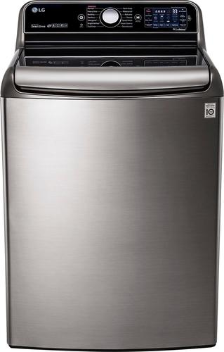 LG - 5.7 Cu. Ft. 14-Cycle High-Efficiency Top-Loading Washer with Steam - Graphite Steel