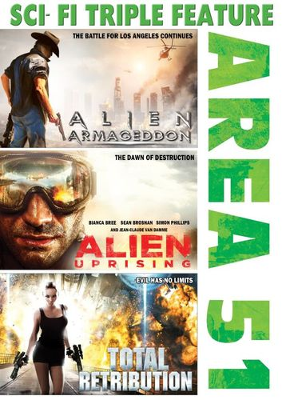 Area 51: Alien Armageddon/Alien Uprising/Total Retribution [DVD] 26053149