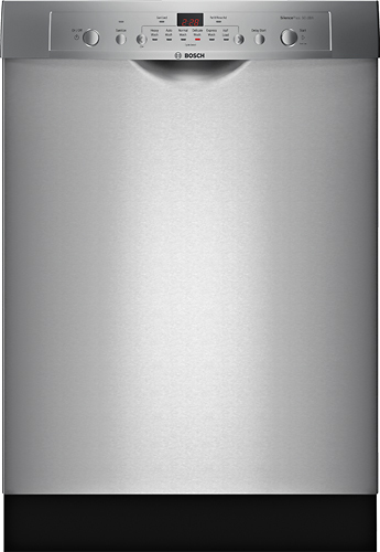 "Bosch - Ascenta 24"" Front Control Tall Tub Built-In Dishwasher with Stainless-Steel Tub - Stainless steel"