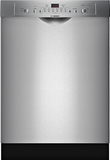 "Bosch SHE3AR75UC Ascenta 24"" Front Control Tall Tub Built-In Dishwasher with Stainless-Steel Stainless Steel"