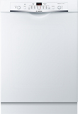 """Bosch SHE3AR72UC Ascenta 24"""" Front Control Tall Tub Built-In Dishwasher with Stainless-Steel White"""