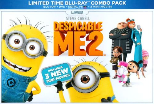 Despicable Me 2 [2 Discs] [Includes Digital Copy] [UltraViolet] [Blu-ray/DVD] [2013] 2658027