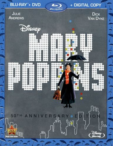 Mary Poppins [50th Anniversary Edition] [2 Discs] [Includes Digital Copy] [Blu-ray/DVD] [1964] 2658054