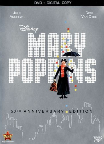 Mary Poppins [50th Anniversary Edition] [Includes Digital Copy] [DVD] [1964] 2658063
