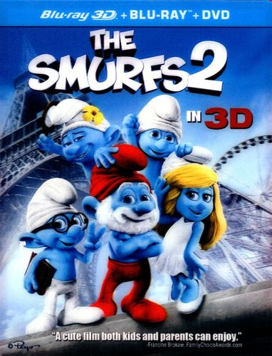 The Smurfs 2 in 3D [3 Discs] [Includes Digital Copy] [UltraViolet] [3D] [Blu-ray/DVD] [Blu-ray/Blu-ray 3D/DVD] [2013] 2667133