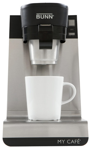 BUNN - Single-Cup Multi-Use Home Coffee Brewer - Black/Stainless-Steel 2729332