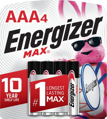 Energizer - MAX Batteries AAA (4-Pack) 4-pack AAA alkaline batteries; battery tester included