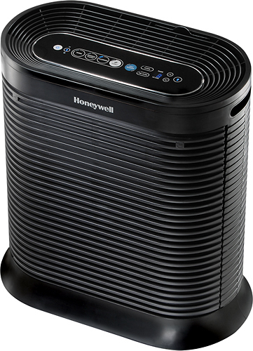 Honeywell - Bluetooth-Enabled Console Air Purifier - Black 2794011