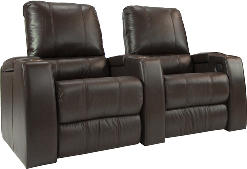 TheaterSeatStore - Magnolia 2-Seat Straight Leather Home Theater Seating - Brown 2796376