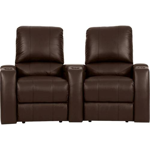 Octane Seating - Magnolia Curved 2-Seat Power Recline Home Theater Seating - Brown 2797171