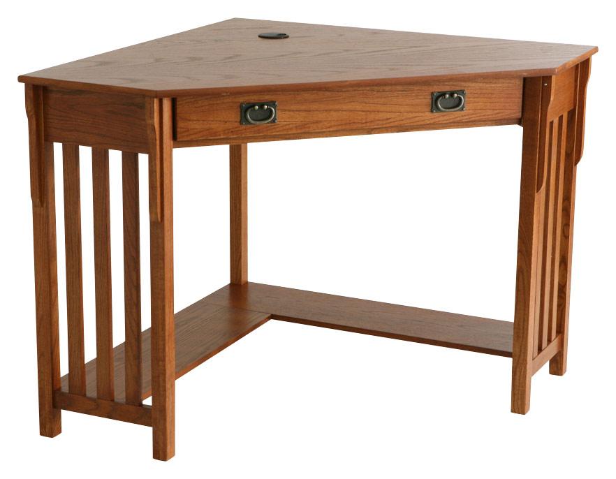 SEI - Patterson Corner Computer Desk - Mission Oak