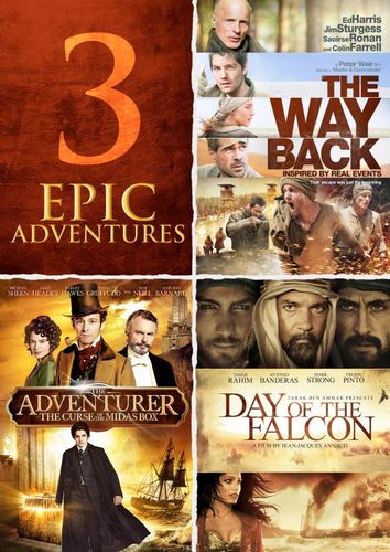 3 Epic Adventures: The Way Back/The Adventurer/Day of the Falcon [DVD] 28591297