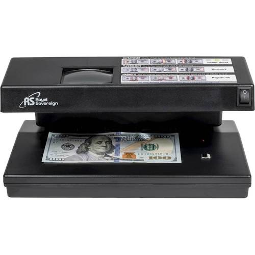 Royal Sovereign - Four-Way Counterfeit Detector - Black