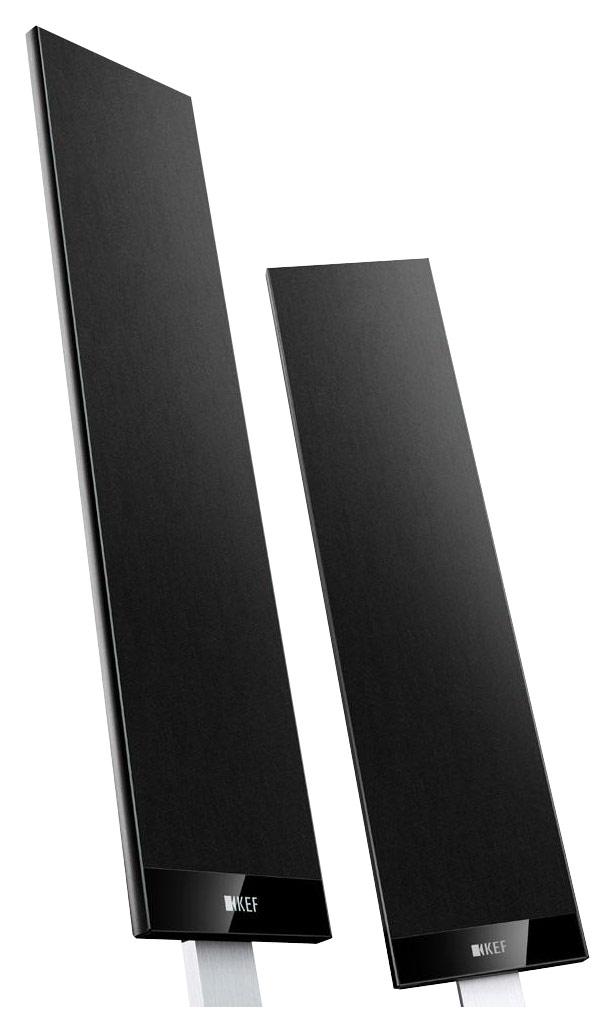 """KEF - 4-1/2"""" Satellite Speakers (Pair) - Black"""