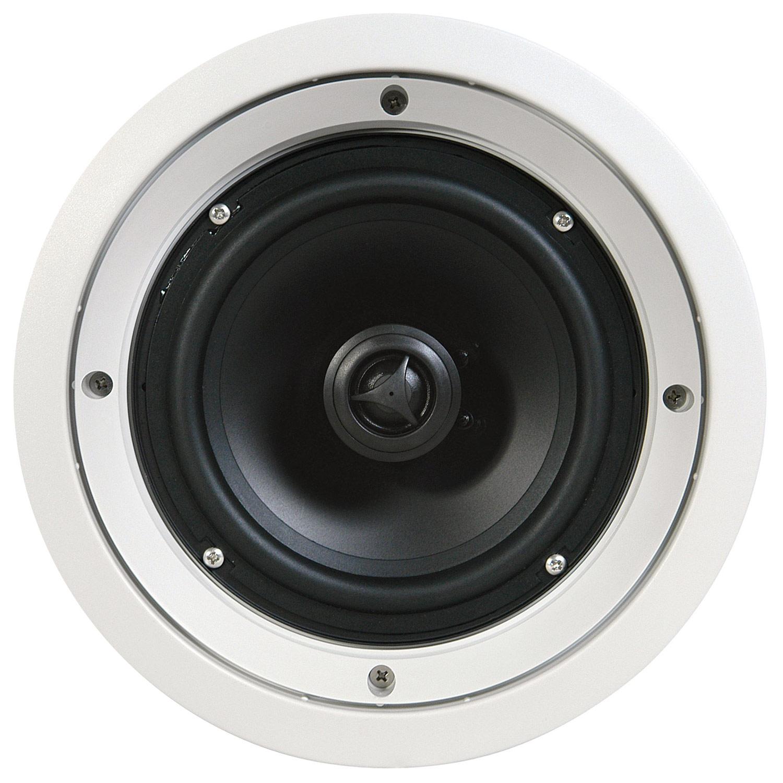 "SpeakerCraft - CRS8 Zero 8"" In-Ceiling Speaker System (5-Piece) - White"