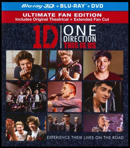 One Direction: This Is Us in 3D [Includes Digital Copy] [UltraViolet] [3D] [Blu-ray/DVD] [Blu-ray/Blu-ray 3D/DVD] [2013] 2889543
