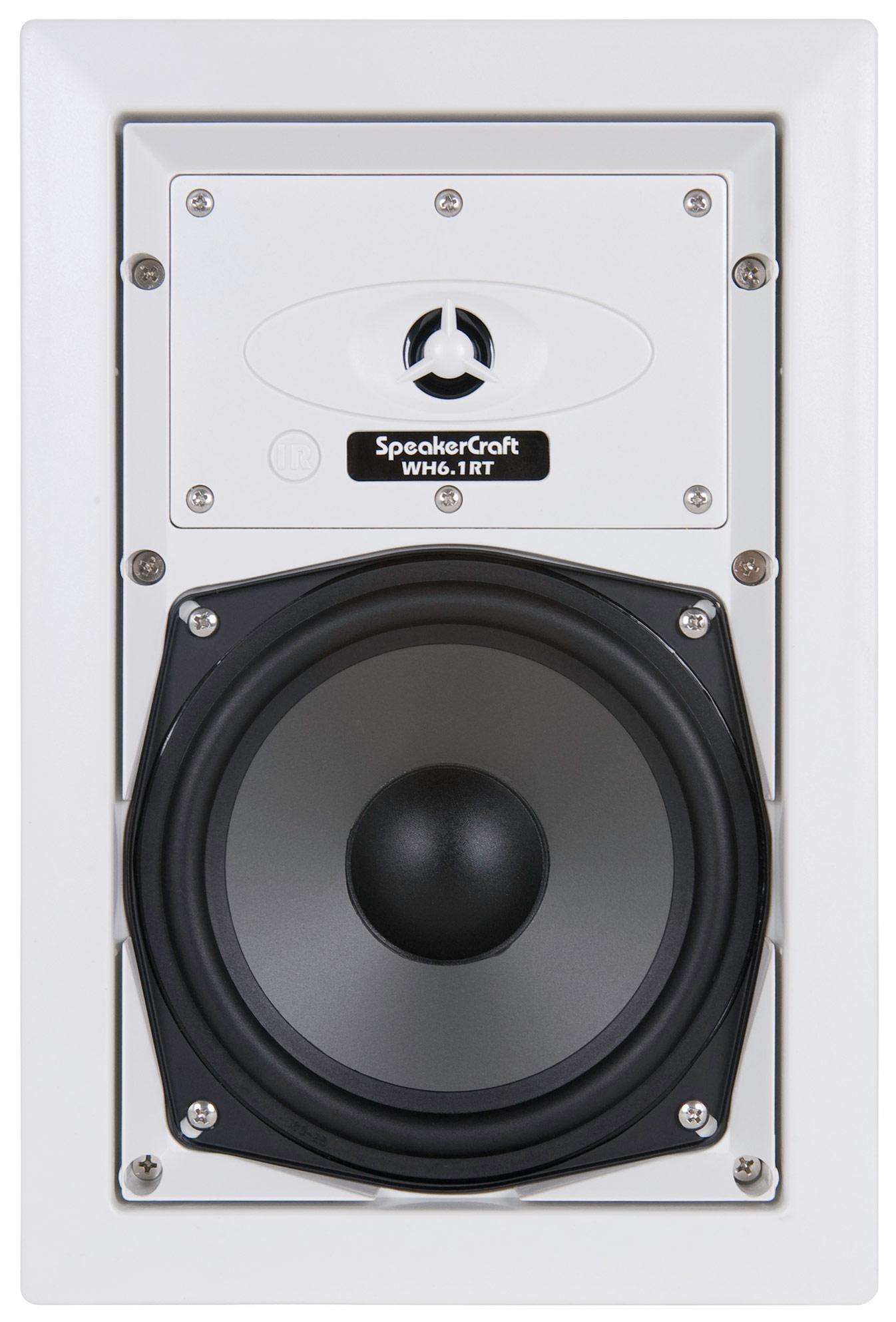 """SpeakerCraft - 6-1/2"""" In-Wall Speaker (Each) - White/Black"""