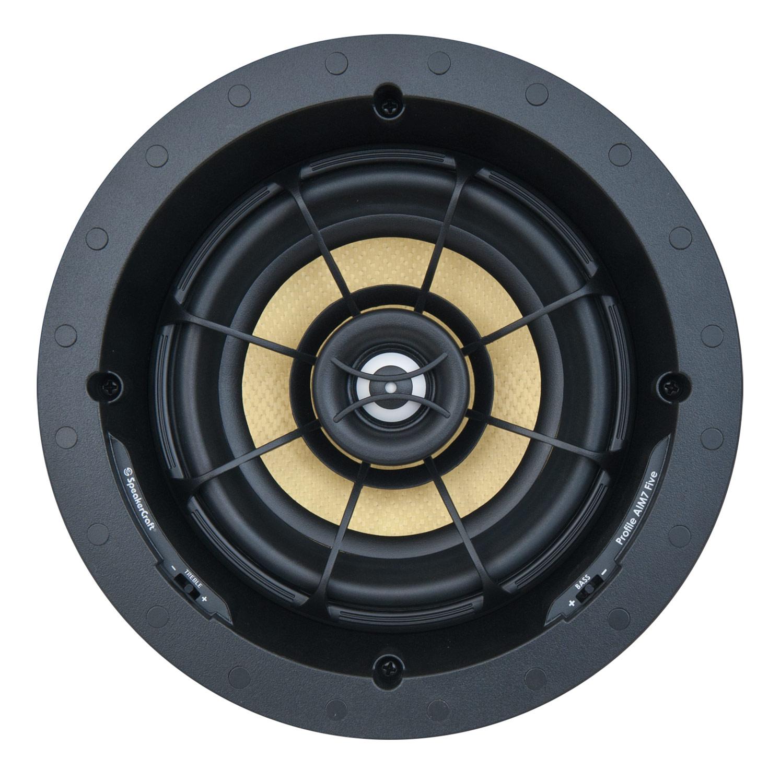 "SpeakerCraft - Profile AIM7 Five 7"" In-Ceiling Speaker (Each) - Black"