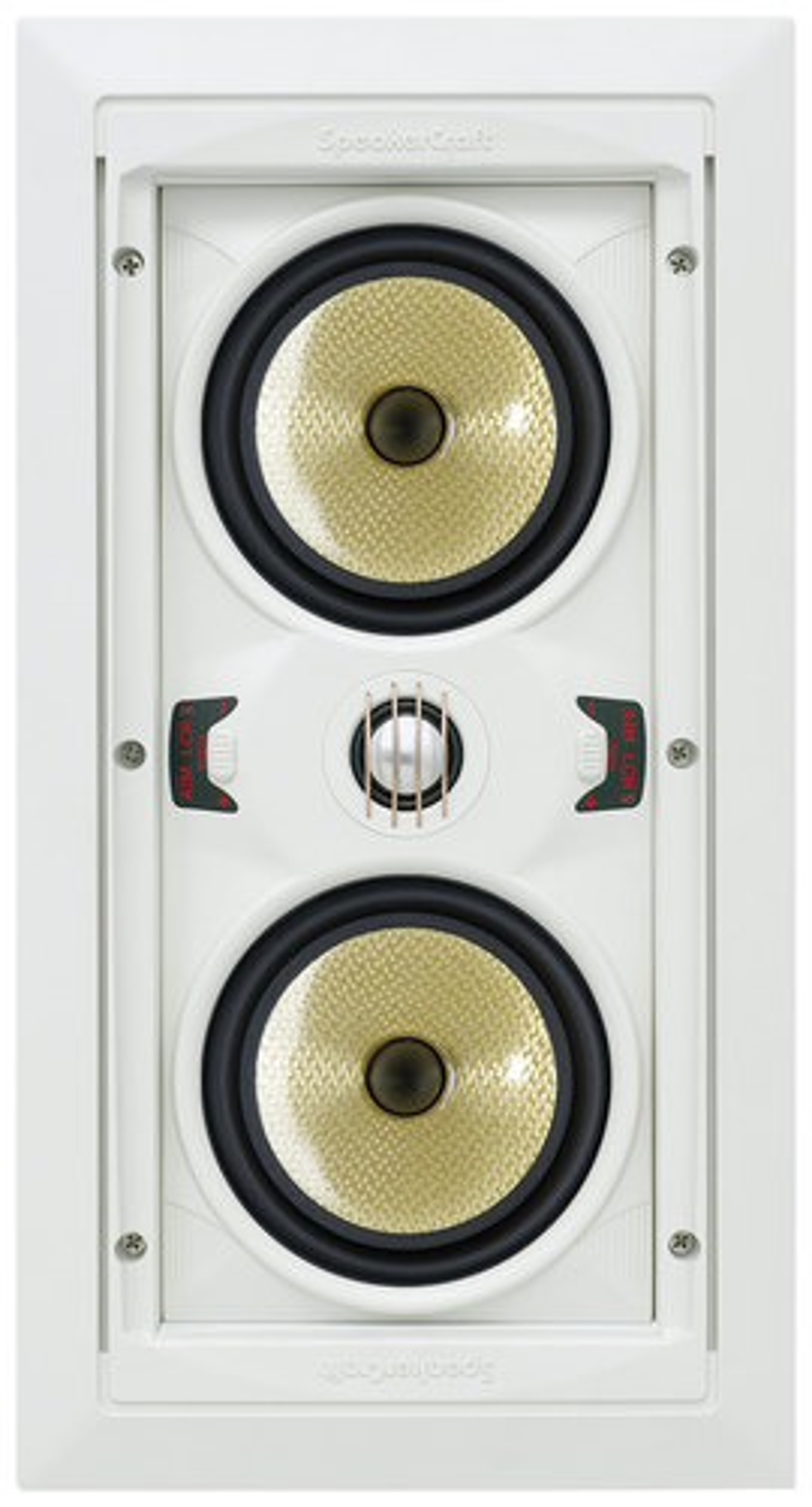 "SpeakerCraft - AIM LCR 5 Dual 5-1/4"" In-Wall Speaker (Each) - Black"