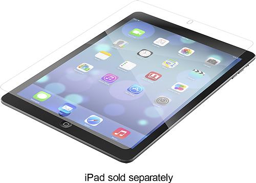 ZAGG - InvisibleShield HD Screen Protector for AppleiPad,AppleiPad 5th Gen,9.7-inch iPad Pro,iPadAir 2 andAir - Clear