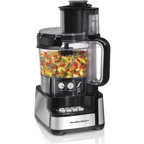 Hamilton Beach - Stack & Snap 12 Cup Food Processor - Black 2926379