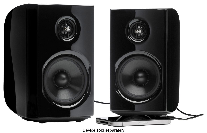 PSB Speakers - Alpha PS1 2-Way Desktop Speakers (2-Piece) - Black