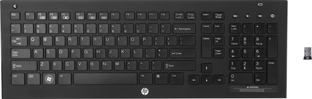 HP QB467AA#ABA Wireless Elite v2 Keyboard