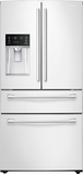 Samsung - 28.15 Cu. Ft. 4-Door French Door Refrigerator with Counter-Height FlexZone Drawer - White largeFrontImage