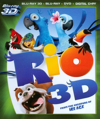 Rio [4 Discs] [Includes Digital Copy] [3D] [Blu-ray/DVD] [Blu-ray/Blu-ray 3D/DVD] [2011] 2972031