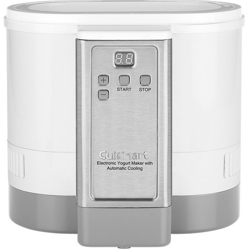 Cuisinart - Electronic Yogurt Maker with Automatic Cooling - Silver, Stainless Steel