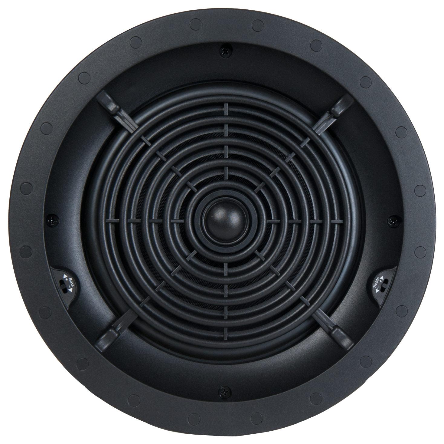 "SpeakerCraft - AIM Series Profile CRS8 Two 8"" In-Ceiling Speaker (Each) - Black"