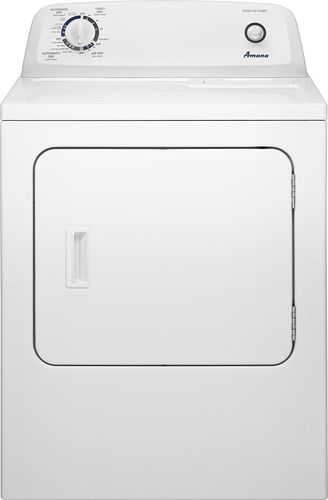 Amana - 6.5 Cu. Ft. 11-Cycle Electric Dryer - White