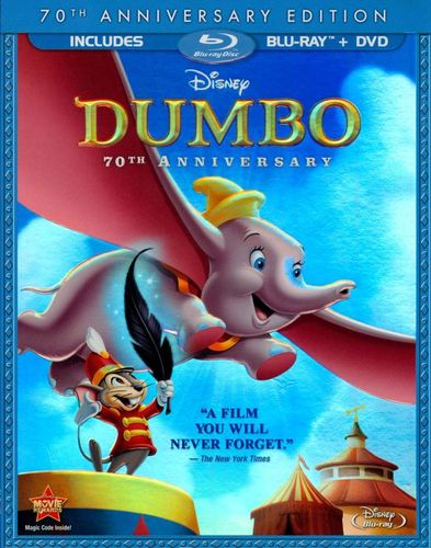 Dumbo [70th Anniversary Edition] [2 Discs] [Blu-ray/DVD] [1941] 3100116