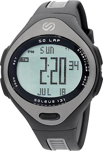 Soleus 131 Large 50-Lap Watch Black/Gunmetal