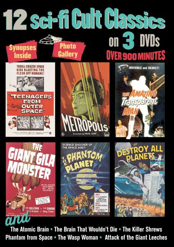 12 Sci-Fi Cult Classics [3 Discs] [DVD]
