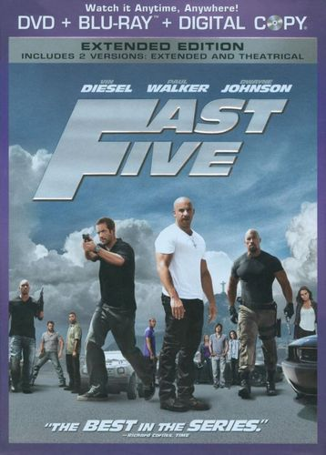Fast Five [Rated/Unrated] [2 Discs] [Includes Digital Copy] [DVD/Blu-ray] [Blu-ray/DVD] [2011] 3142111