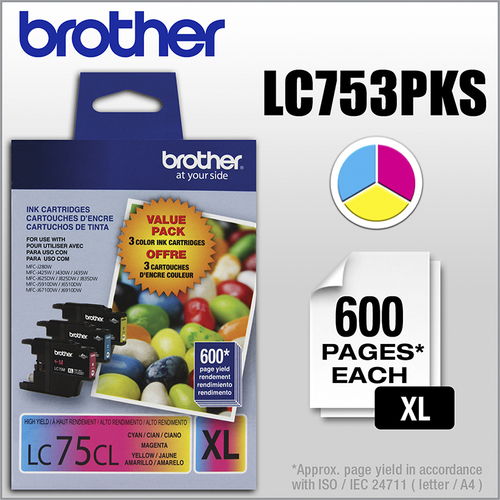 Brother - LC75CL XL 3-Pack...