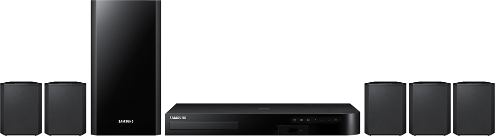 Samsung - 4 Series 500W 5.1-Ch. 3D / Smart Blu-ray Home Theater System - Black