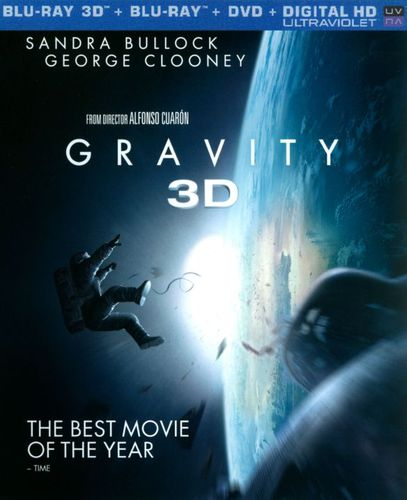 Gravity [3 Discs] [Includes Digital Copy] [UltraViolet] [3D] [Blu-ray/DVD] [Blu-ray/Blu-ray 3D/DVD] [2013] 3200101
