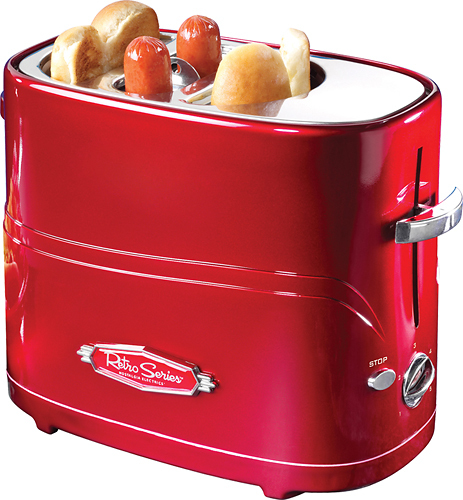 Nostalgia Electrics - Retro Series Pop-Up Hot Dog Toaster - Red 3224188
