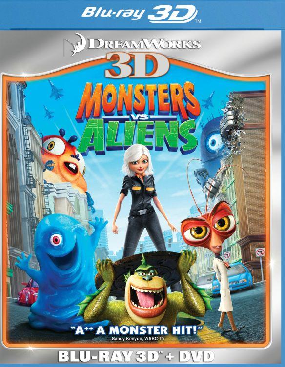 Monsters vs. Aliens 3D [2 Discs] [3D] [Blu-ray/DVD] [Blu-ray/Blu-ray 3D/DVD] [2009] 3293371