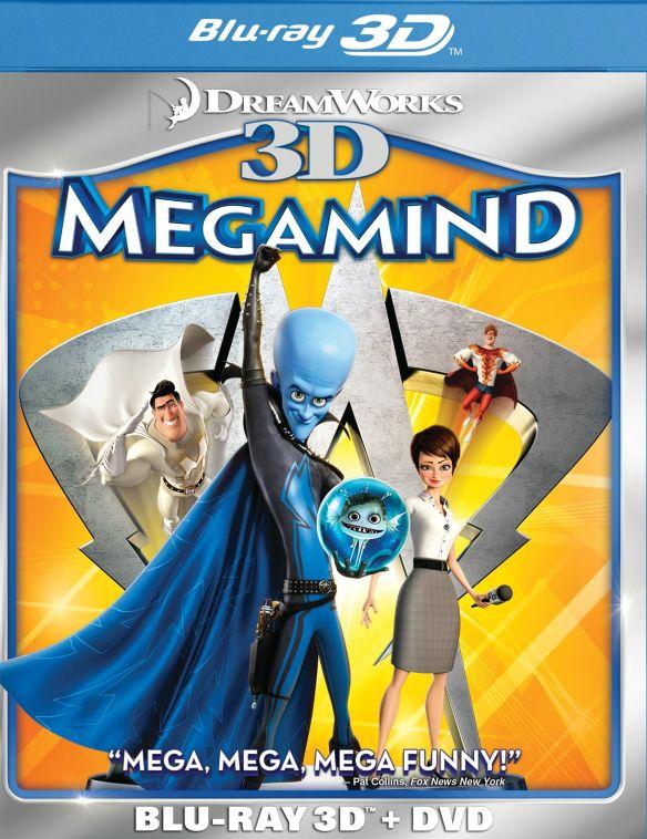 Megamind 3D [2 Discs] [3D] [Blu-ray/DVD] [Blu-ray/Blu-ray 3D/DVD] [2010] 3294033