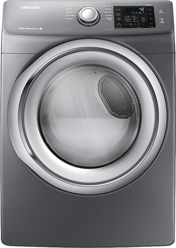 Samsung - 7.5 Cu. Ft. 11-Cycle Electric Dryer with Steam - Platinum