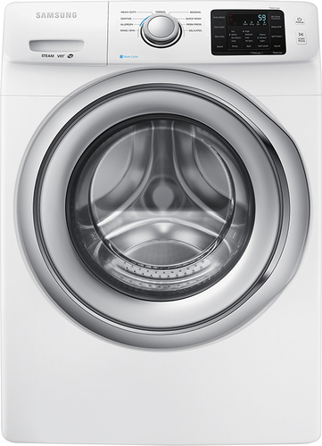 Samsung - 4.2 Cu. Ft. 9-Cycle High-Efficiency Steam Front-Loading Washer - White