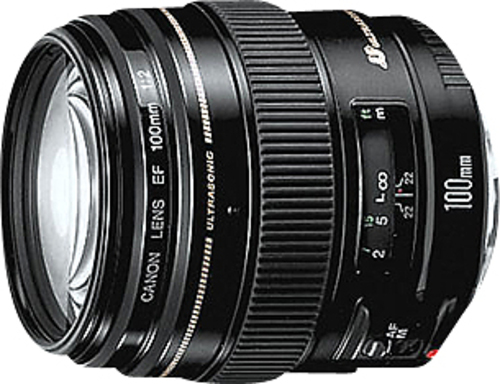 Canon 2518A003 EF 100mm f/2 USM Medium Telephoto Lens Black