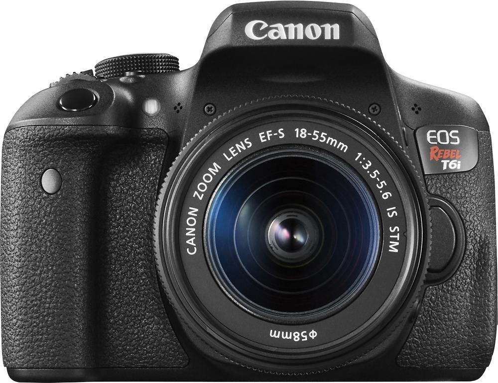 Canon - EOS Rebel T6i DSLR Camera with EF-S 18-55mm IS STM Lens - Black