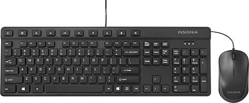 Insignia™ - USB Keyboard and USB Optical Mouse - Black
