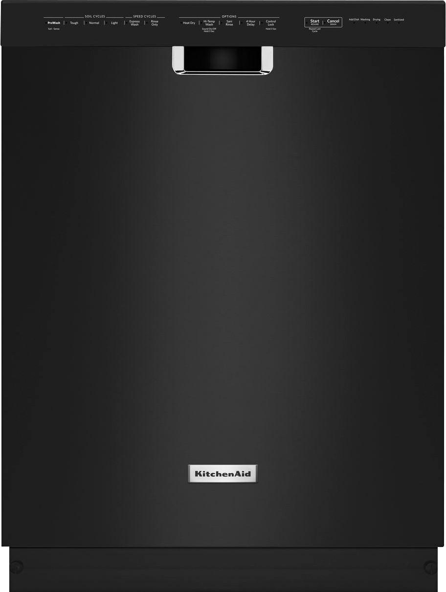 """KitchenAid 24"""" Built-In Dishwasher Black KDFE104DBL"""