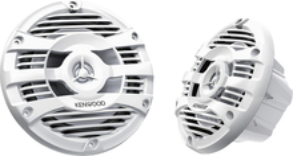 "Kenwood - 6.5"" 2-Way Marine Speakers with Polypropylene Cones (Pair) - White"