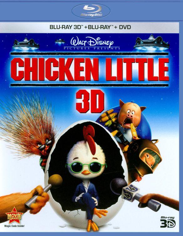 Chicken Little 3D [3 Discs] [3D] [Blu-ray/DVD] [Blu-ray/Blu-ray 3D/DVD] [2005] 3648387
